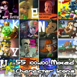 Jimmy Neutron - 55 Minor Character Icons (.zip) by Absurd--Reality