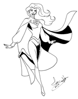 Supergirl concept lineart by Joe-Singleton