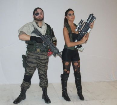 Snake and Quiet by IgorTodd