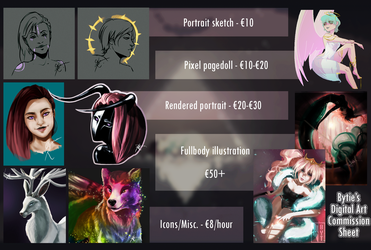 Commission Prices Information Sheet by fBytie