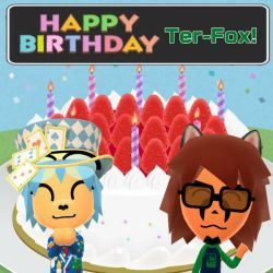 Happy Birthday to Ter-Fox (Terrix250)! by GoldRaibowMario2