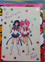 Gift: Eternal Saturn + Chibi Moon by Magical-Mama