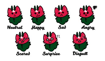 [Mothcats] Bramble's Expression Sheet by raspberryvixen