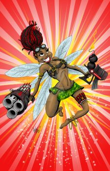 Combat Fairies - Brietta by OuthouseCartoons
