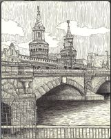 Sketchbook - Oberbaumbruecke Berlin by keiross