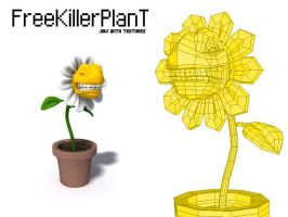 Free 3d killer plant by mox3d