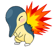Animated Cyndaquil by TheLittleNymph