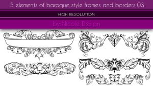 5 Elements Of Baroque Style Frames And Borders 03 by noema-13