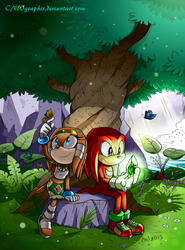 ~Tikal and Knux: colored~ by CNWgraphis