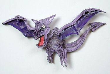 Pokemon Paper Quilling Art 142 Aerodactyl by wholedwarf