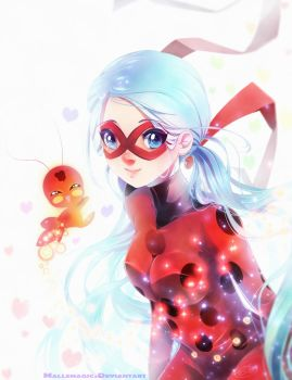 Evina as Miraculous Ladybug by Mallemagic