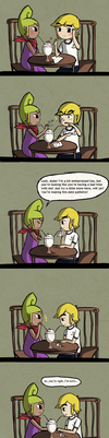 LoZ Comic: Awkward Date by Icy-Snowflakes