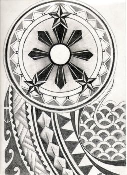 Filipino Tribal Tattoo Design by carrieannnn