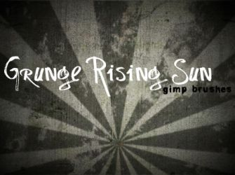 Grunge Rising Sun GIMP Brushes by annadigiovanni