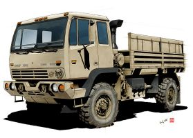 Military Cargo Truck OIF by randychen
