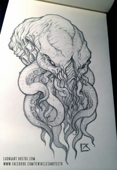 Cthulhu Comission 3 by TentaclesandTeeth