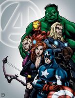 The Avengers by MarcBourcier