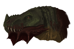 'Ferdinand' Epivitosaurus Head by Malceath-Avenor