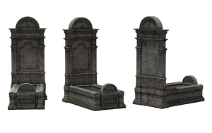 Gravestone Set 13 by Free-Stock-By-Wayne