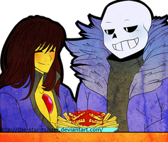 AT|~''A Human And a Skelefont Walk Into a Bar..''~ by The-Star-Hunter