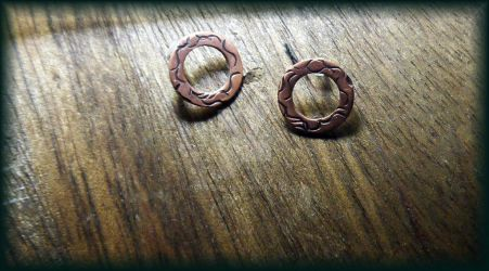 Copper Washer Earrings by bgfdesigns