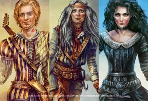 Assembly - Dandelion, Ciri, Yennefer by JustAnoR