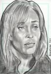 Stargate Atlantis Sketch Card Teyla Emmagan 1 by JonDjulvezan