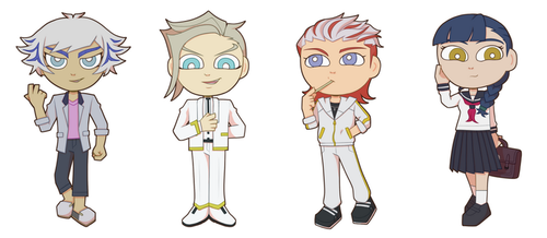VRAINS cartoon style pt.2 by BlackThunder-chan