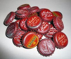 Nuka Cola Bottle Caps by chanced1