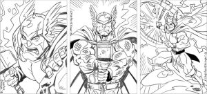 Thor rough sketch pencils by CharlesEttinger