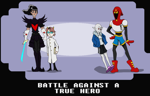 Battle against a true hero Cover by ValeTheHowl