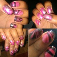 MARBLE NAILS! by FatimattiDesigns
