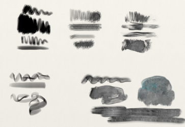 Bristle and ink brush presets for Artrage 5 by SchweizerArts