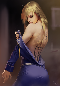 Riza Hawkeye by SourAcid