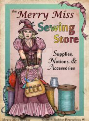 Merry Miss Sewing Supply by BobbieBerendson