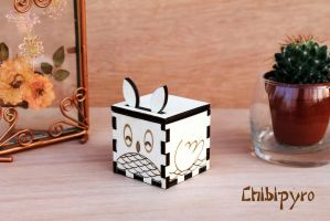 Wooden Favor Owl by ChibiPyro