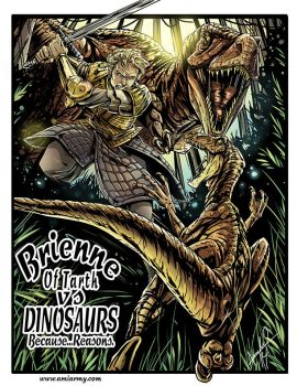 Brienne Of Tarth Vs Dinosaurs by Amelie-ami-chan