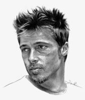 Brad Pitt  pencil by IgnacioRC