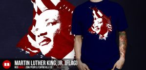 Martin Luther King, Jr. (with flag) by capdevil13