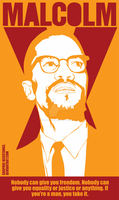 Malcolm X by graphic-resistance