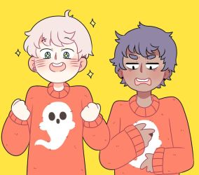 Matching Sweaters by TheHoneybird