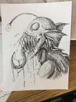 Mutated anglerfish by RaverDragon