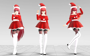 [MMD-Elsword] Elesis Christmas pack DOWNLOAD! by Darknessmagician
