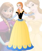 disney fusion: Anna and Belle by Willemijn1991