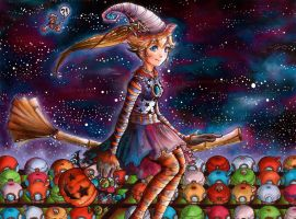 Trick or Peach by keylaces