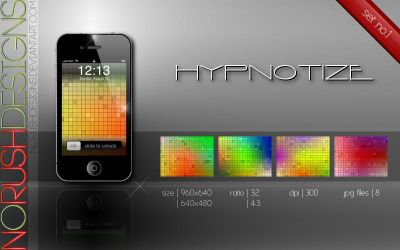 Mobile: Hypnotize - set no.1 by NoRushDesigns