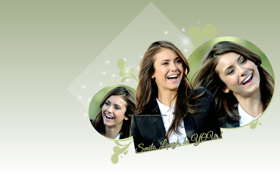 Nina Dobrev - Smile,Laugh, Be You! by forr-yoouu