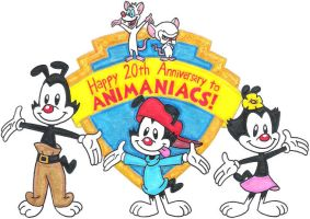 Animaniacs 20th Anniversary by nintendomaximus