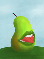 Biting Pear of Salamanca by miki-chaan