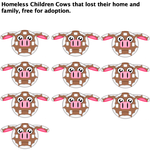 Ten Homeless Cows with no family, please adopt by Mario1998